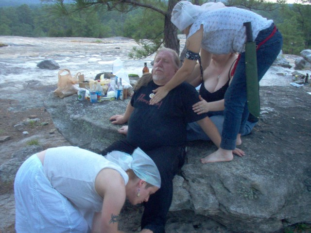 a spiritual bath as part of a communal spiritual event in central GA
