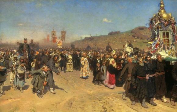 Крестный-ход-в-Курско-губернии.-1880-1883-580x367