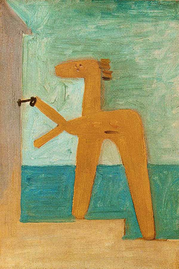 9 Pablo-Picasso_Bather-opening-a-cabin_1928
