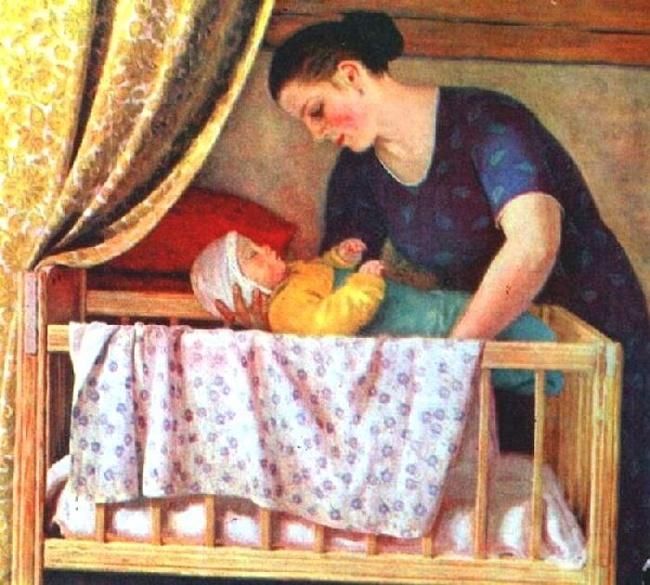 Картинка для детей мама качает ребенка
