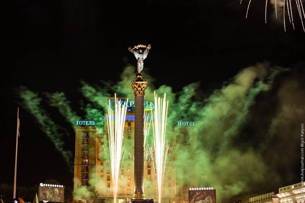 праздничный феерверк в День Киева, 27 мая 2012