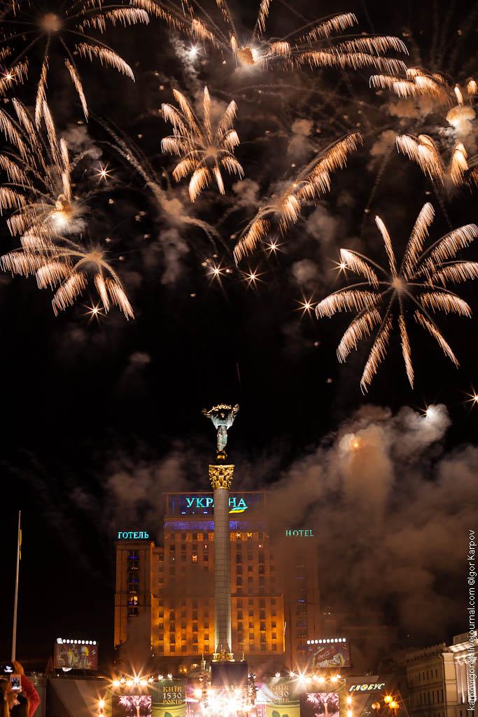 праздничный фейерверк в День Киева, 27 мая 2012
