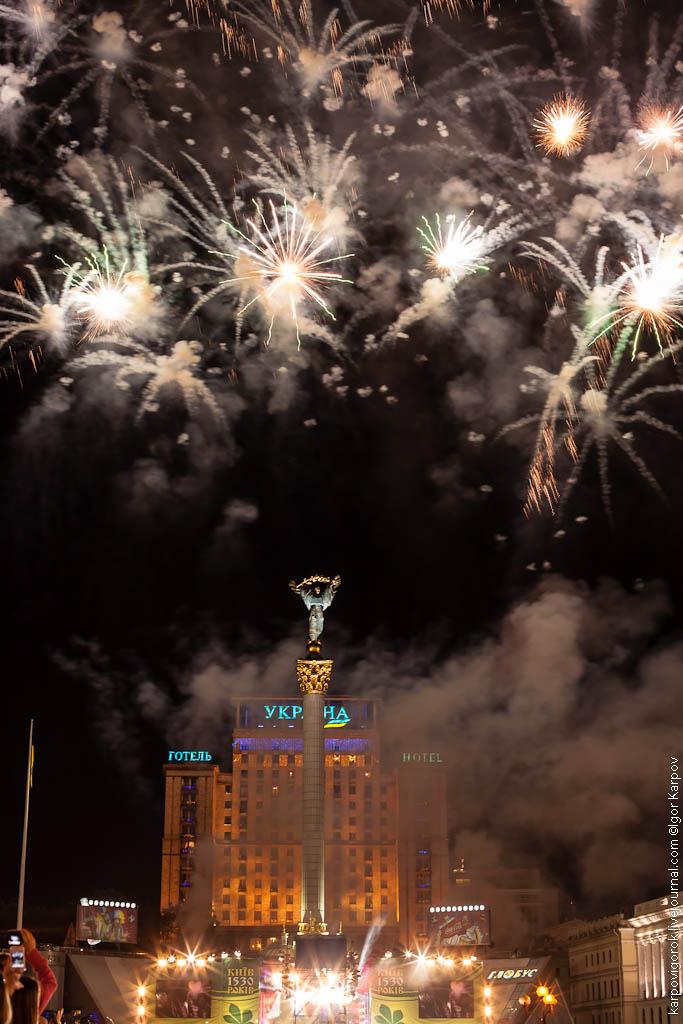 салют в День Киева, 27 мая 2012