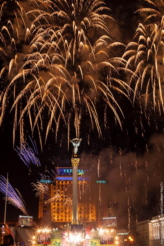 салют на День Киева, 27 мая 2012