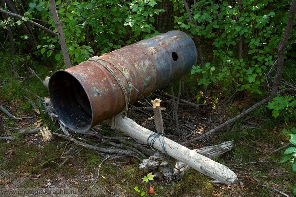 Капкан из трубы на кабана