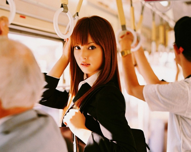 Nozomi-Sasaki-In-The-Bus-HD-Wallpaper