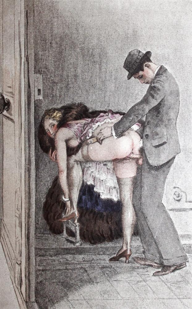 Порно рисунки барин тянет прислугу