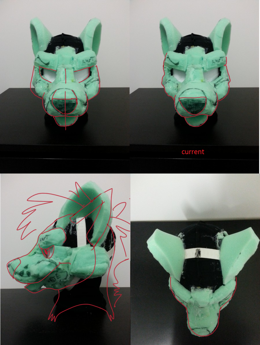 how to make a fursuit head out of foam