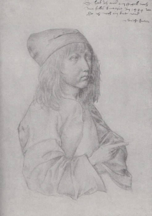 1 Self-portrait at the age of thirteen. 1484