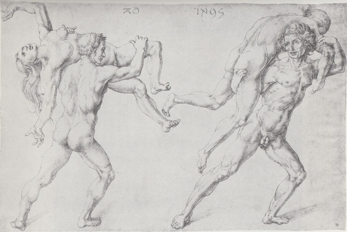 4 Abduction of a woman [Rape of Sabine women] 1495