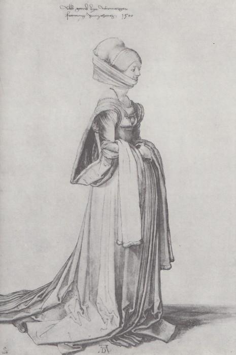 11 A Nurenberg costume study. 1500