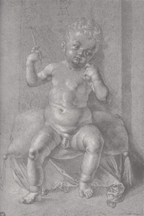 14 Seated nude child. 1506