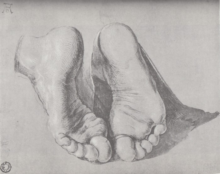 20 Feet of a kneeling man. 1508