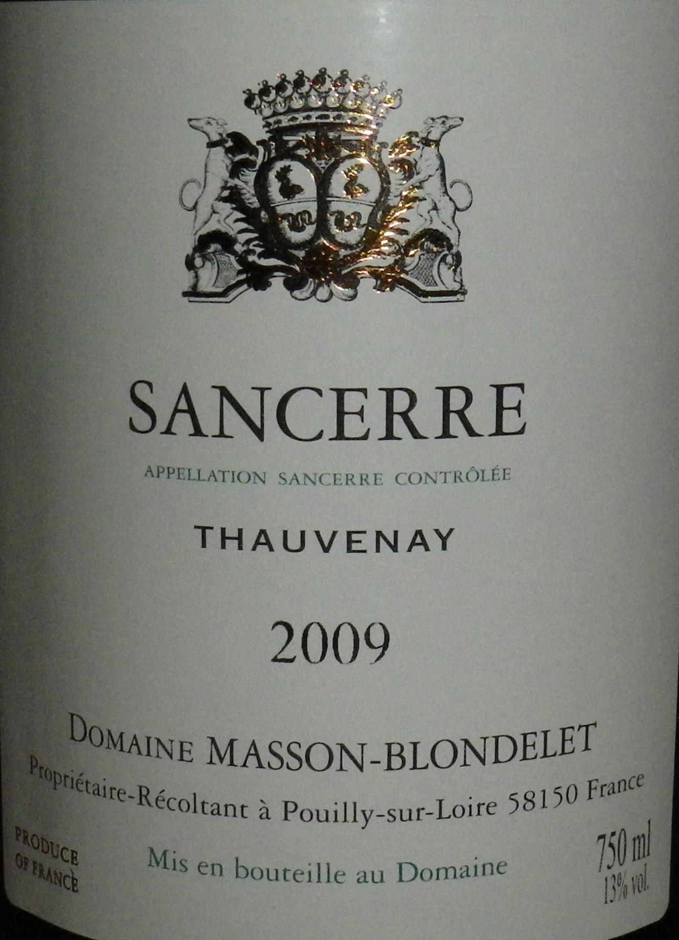 Masson Blondelet Tauvenet 2009