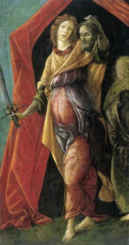 Юдифь, выходящая из шатра Олоферна