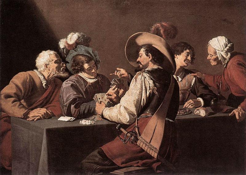 Игроки в карты - Королевский музей, Антверпен