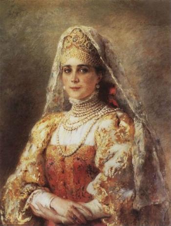 юсупова в русском костюме