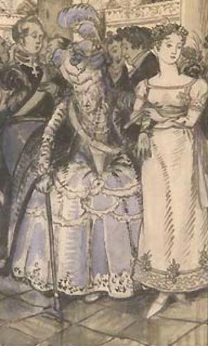 Бенуа - Лиза и старая графиня на балу.jpg