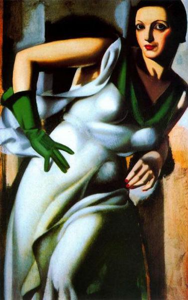 ТЛ-портрет дамы в зелёных перчатках 1928.jpg