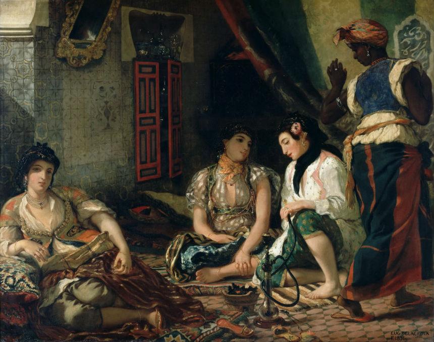 Эжен Делакруа (1798- 1863) - Алжирские женщины.jpg