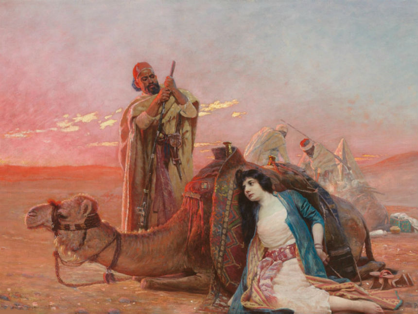 Отдых в пустыне - Отто Пильны (1866-1936).jpg