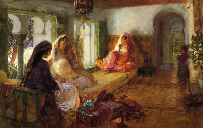 Гарем - Фредерик Артур Бриджмен - 1904.jpg