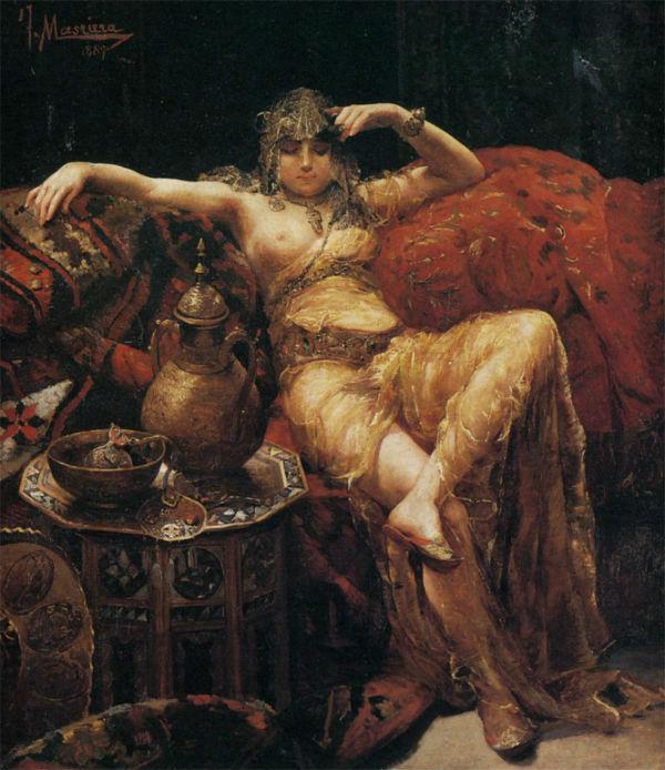 Гаремная красавица - Франсиско Масриера (1842-1902).jpg