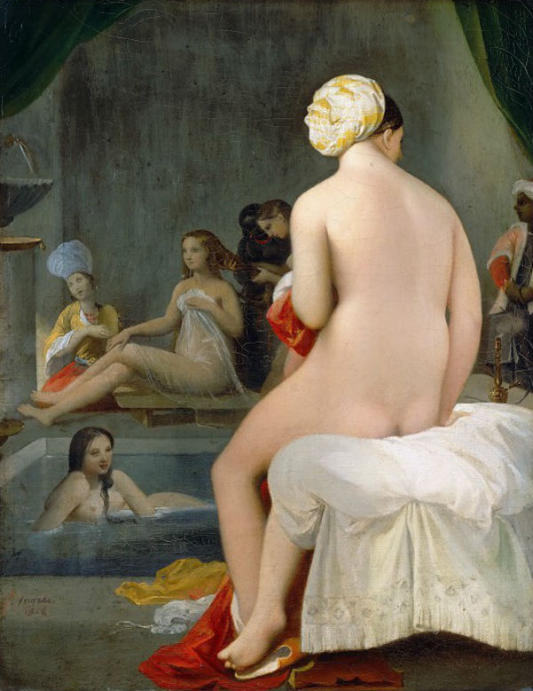 Малая купальщица - интерьер гарема Жан Огюст Доменик Энгр.jpg