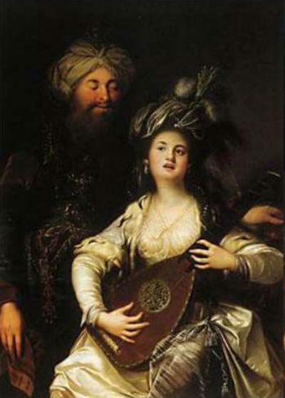 Роксолана и султан - Карл Антон Хакель 1780.jpg