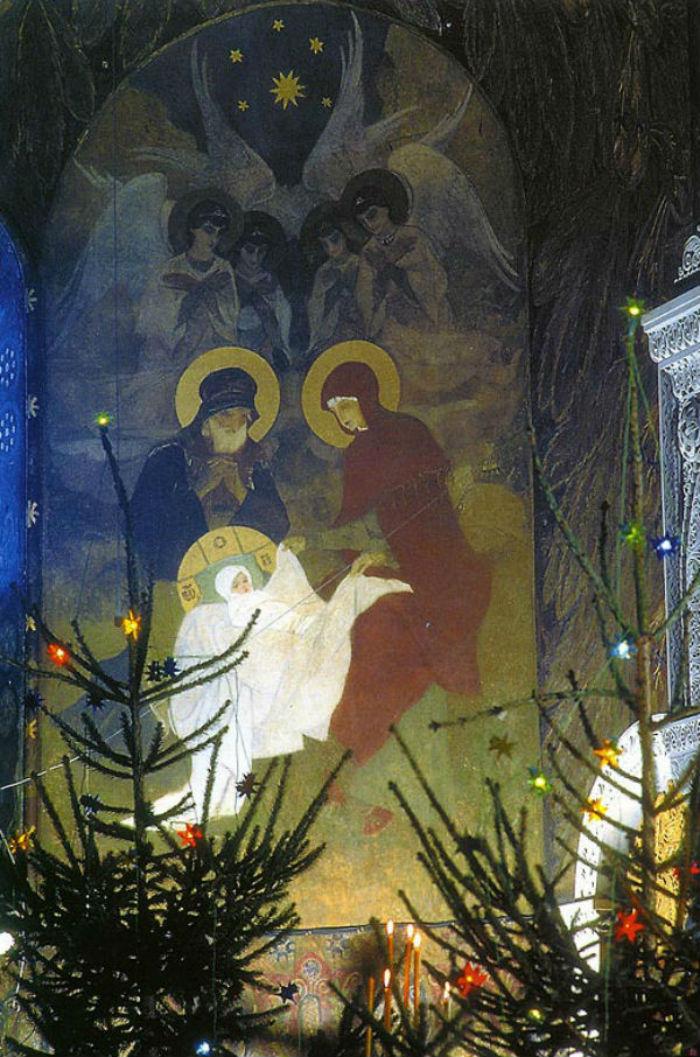 Рождество Христово Васнецов Виктор Михайлович 1885-1896 Росписи Владимирского собора в Киеве.jpg