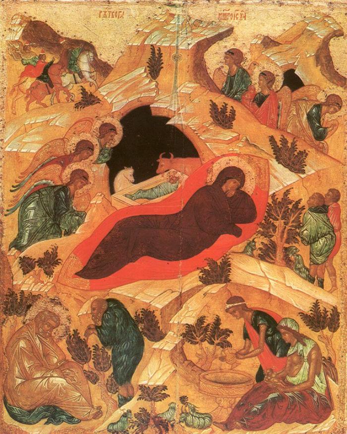 Рождество Христово Андрей Рублев.jpg