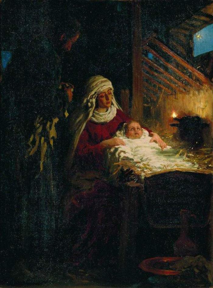 Рождество Христово Репин Илья Ефимович 1890.jpg