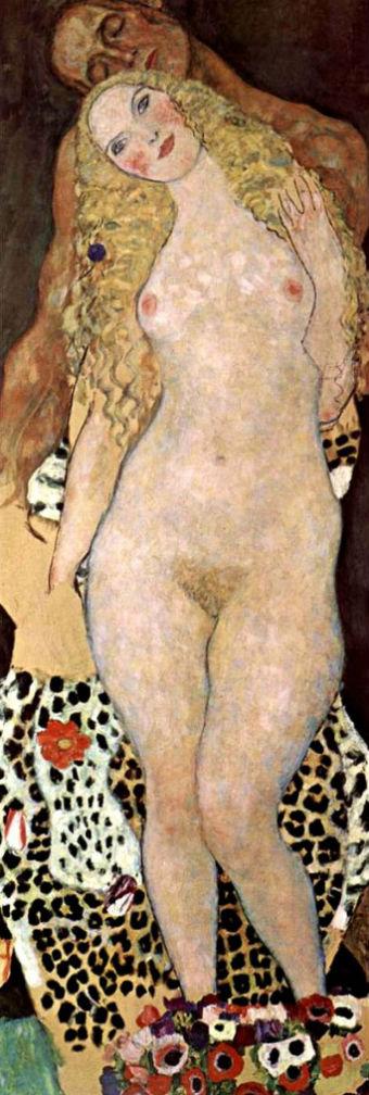 Густав Климпт - Адам и Ева 1917-1918 Галерея Бельведер Вена.jpg
