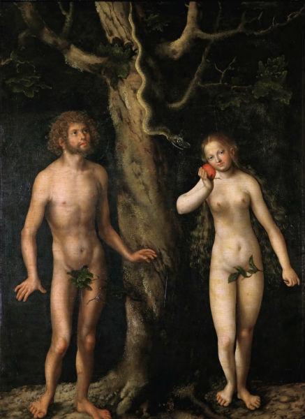 Лукас Кранах старший - Адам и Ева 1515 Национальный музей Варшава.jpg
