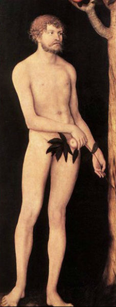 Лукас Кранах старший - Адам  1531 Дрезденская картинная галерея 2 доски.jpg