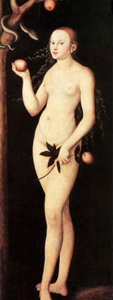 Лукас Кранах старший - Ева 1531 Дрезденская картинная галерея 2 доски.jpg