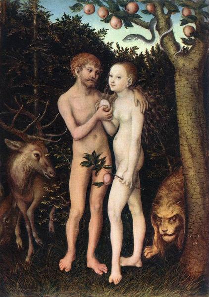 Лукас  Кранах старший - Адам и Ева 1533.jpg