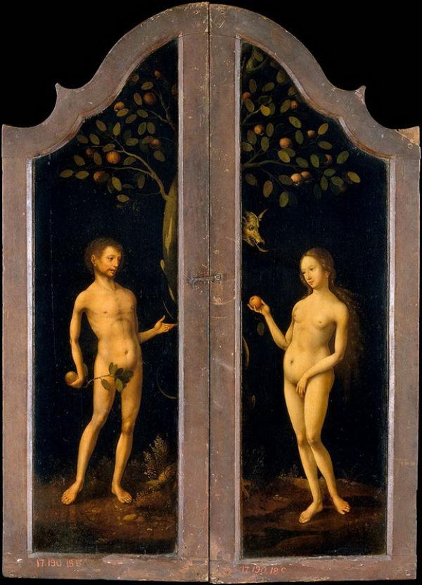 Мастер из Антверпена - Адам и Ева - начало 16 века - Метрополитен музей Нью-Йорк.jpg