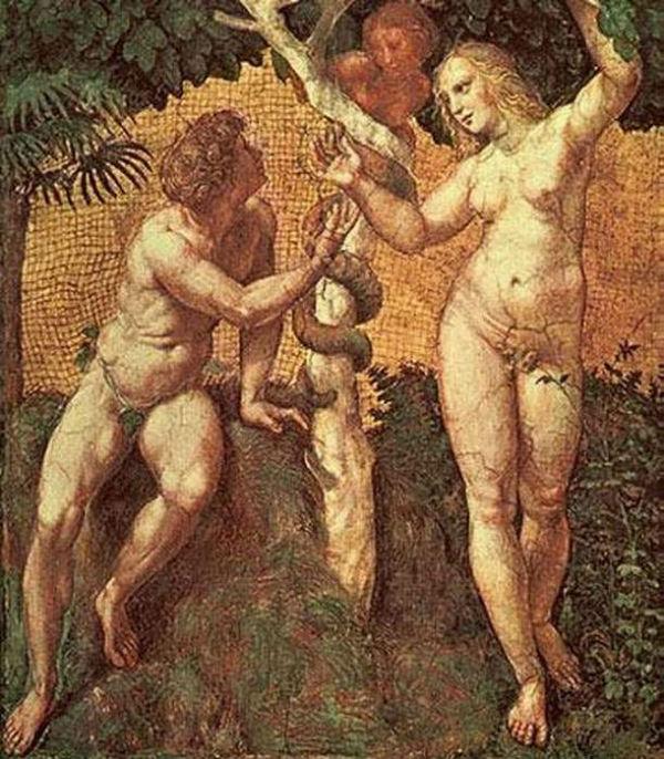 Рафаэль  (1483-1520) - фреска Адам и Ева.jpg