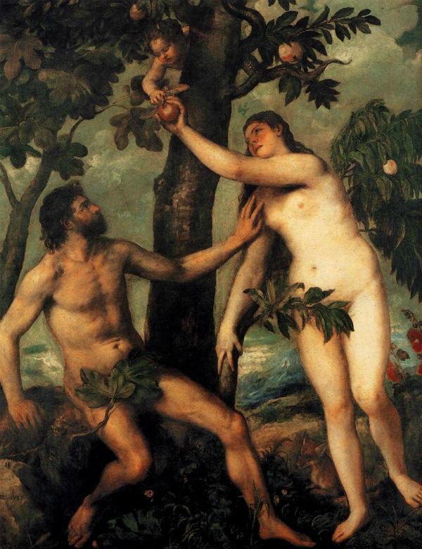 Тициан Вечеллио (от 1488 до 1490-1576) - Адам и Ева.jpg