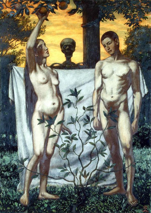 Ганс Тома (1839-1924) - Адам и Ева.jpg