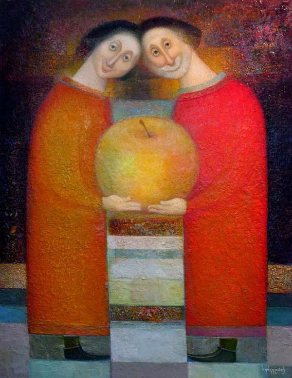 Нико Херкеладзе (родился 1953) Адам и Ева.jpg