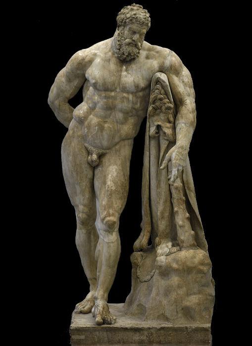 Отдыхающий Геракл (тип Фарнезе - Питти) Римская работа конца 2-начала 3 века н.эры с бронзового образца работы Лисиппа 2-й половины 4 века до н.эры.j…