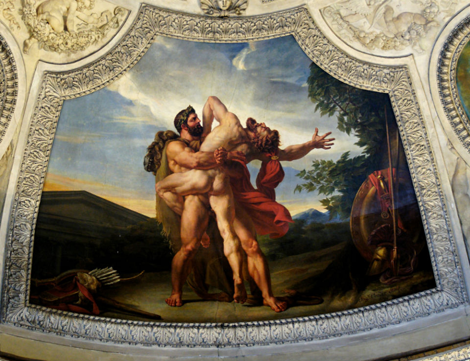 Огюст Кудер - Земля или Битва Геркулеса и Антея (1819) Париж Лувр.jpg