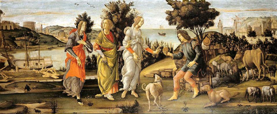 Ботичелли Сандро Суд Париса 1485.jpg