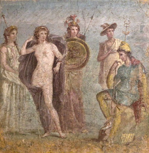 Фреска из Помпеи Суд Париса - Национальный археологический музей Неаполя.jpg