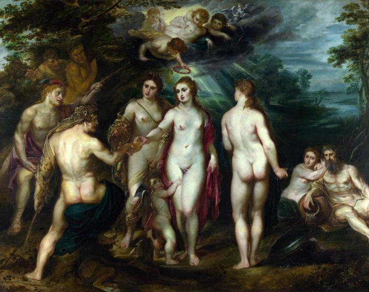 Суд Париса 1587-1599 Рубенс - Лондонская национальная галерея.jpg