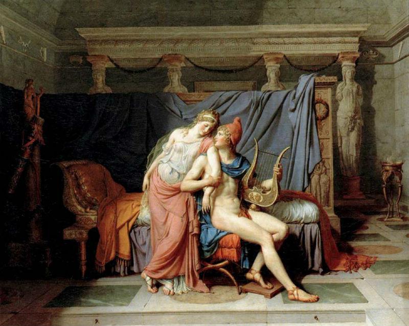 Любовь Париса и Елены Жак Луи Давид 1788 Лувр.jpg