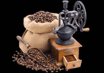 Мешок с кофе и кофейная мельница.jpg