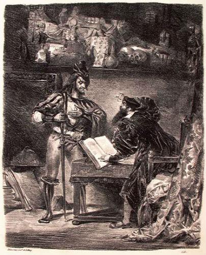 Появление Мефистофеля - литография 1828.jpg